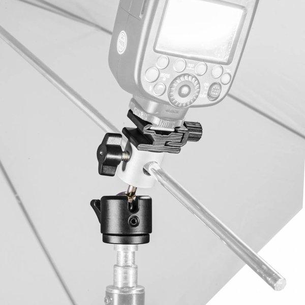 Walimex Pro Paraplu en flitsbevestiging w. balhoofd