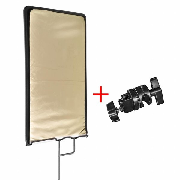Walimex Pro Reflectiescherm Paneel 4in1, 60 x 75 cm + klem