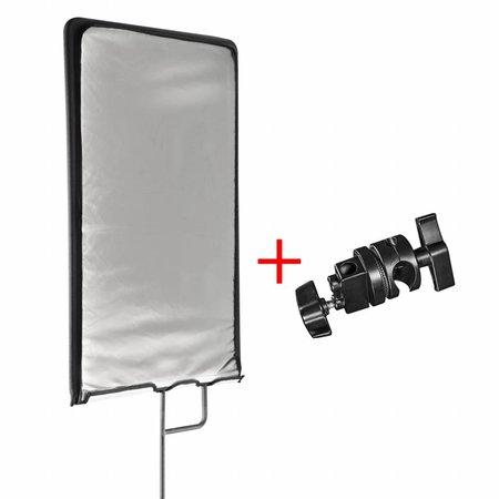 walimex pro 4in1 Reflektorpanel 45x60cm + Klemme