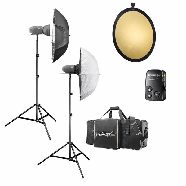 Walimex Pro Studio Flitsset Newcomer Classic M 3/3 1DS1RS +