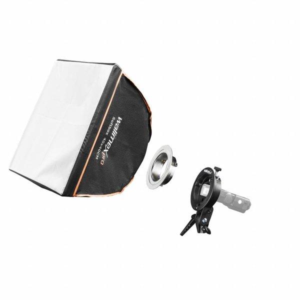 Walimex Pro Softbox 40x40cm voor compacte flitsen