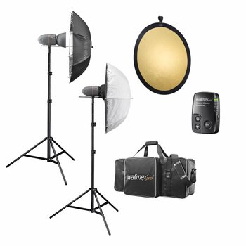 Walimex Pro Studio Lighting Kit Newcomer Classic M 3/2 1DS1RS+