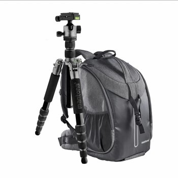 mantona Camera Backpack Tallinn + Tripod Traveler Kit