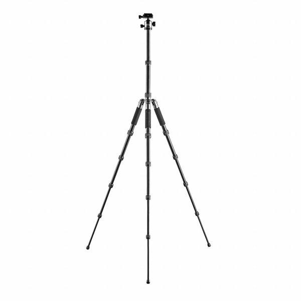 Mantona Camera Statief Traveller, Zwart / Grijs