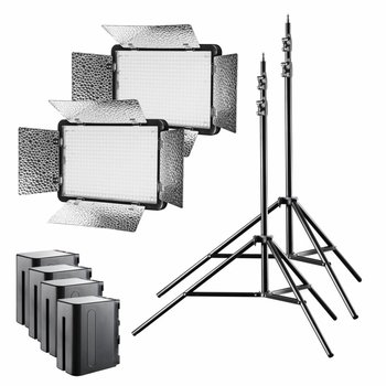 walimex pro LED Versalight 5 Daylight Set 2 Akku