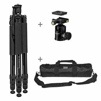 mantona Camera Tripod Wolverine XL-12 with Ball Head + Bag