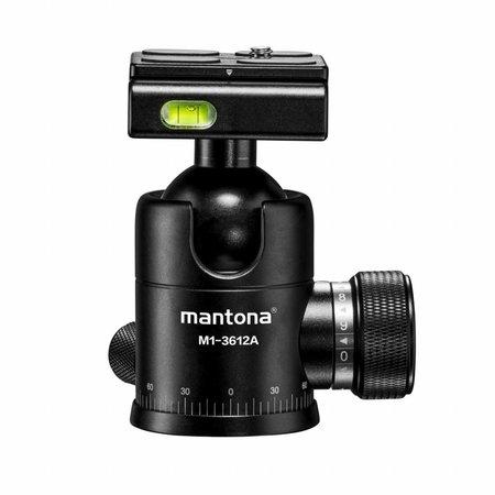 mantona Camera Tripod Kodiak L-12 incl. Ball Head + Bag