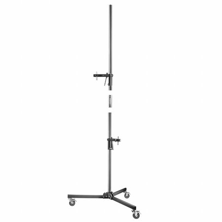 Light Stand Wheeled with 2 Clamp Holders