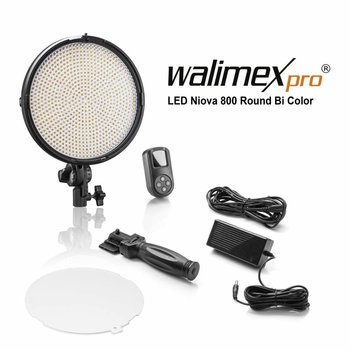 Walimex Pro LED Niova 800 Plus Round Bi Color