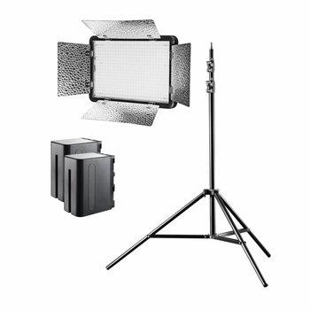 Walimex Pro LED Flächenleuchte Versalight 5 Bi Color Set 1Akku