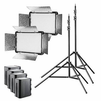 Walimex Pro LED Flächenleuchte Versalight 5 Bi Color 2er Set Akku