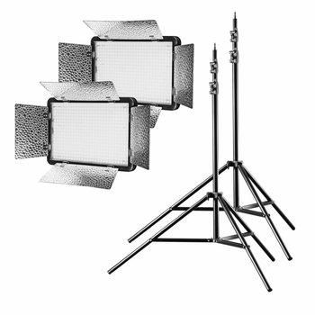 Walimex Pro LED Panel Light Battery Pack 500 Versalight Daylight Set II