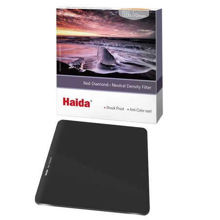 Haida ND Filter 10 Stops 100x100mm ND3.0 1000x Red Diamond