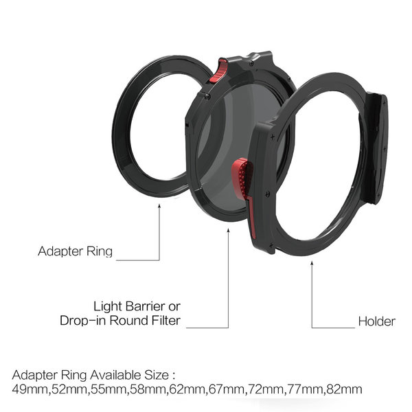 Haida M10 Filterhouder 55mm Basic Kit