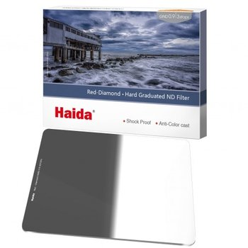 Haida Hard Graduated ND Filter 3 Stops 100x150mm ND0.9 Red Diamond