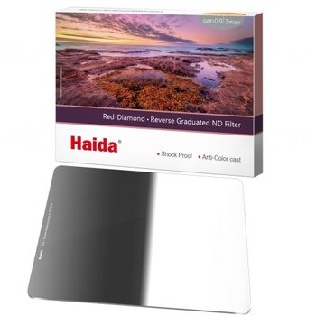 Haida Reverse Graduated ND Filter 3 Stops 100x150mm ND0.9 Red Diamond