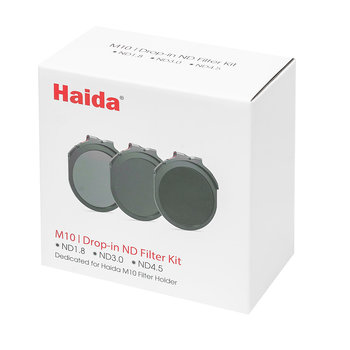 Haida Red Diamond ND Filter Set M10 Drop-In 6-10-15 Stops