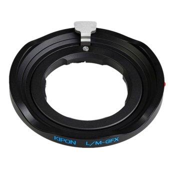 Kipon Adapter für Leica M auf Fuji GFX (schwarz)