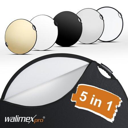 Walimex Pro Faltreflektor 5in1 wavy comfort Ø80cm
