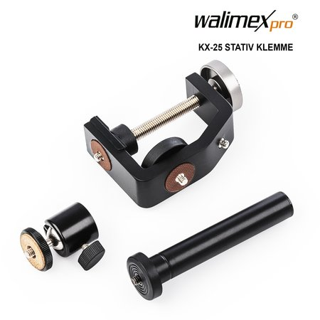 walimex pro Stativ Klemme mit Kugelkopf KX-25