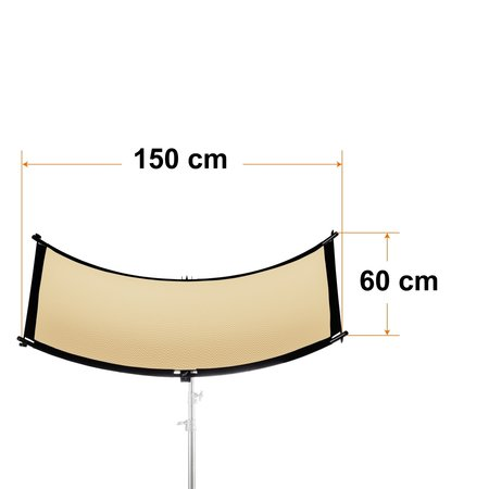 walimex pro Reflector Halfpipe 3in1, concave150x60