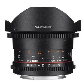 Samyang Camera Lens  MF 8mm T3,8 Fisheye II Video APS-C Nikon F