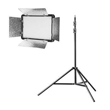 Walimex Pro LED Flächenleuchte Versalight 5 Bi Color Set inkl. Stativ