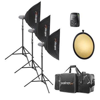 Walimex Pro Studio Lighting Kit Newcomer Performer 3/3/3 3SB1FR+