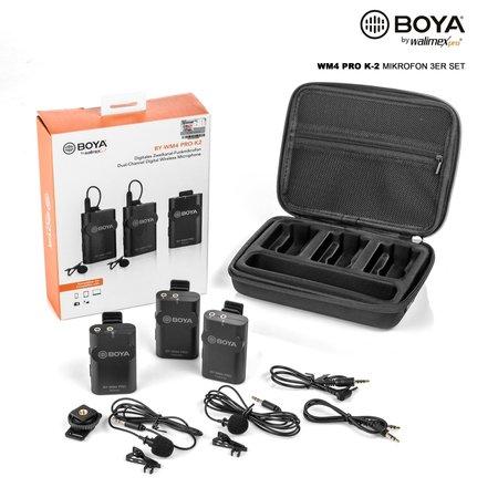 Walimex Pro Boya WM4 Pro K-2 Microfoon Set van 3gs!
