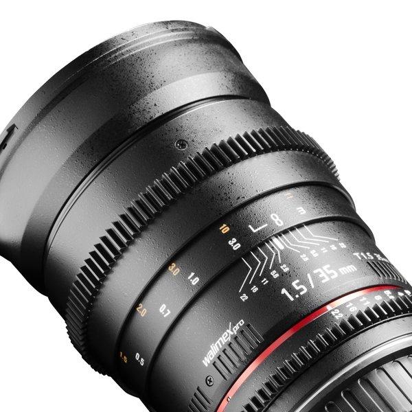 Walimex Pro Objectief 35/1,5 Video DSLR Nikon F zwart
