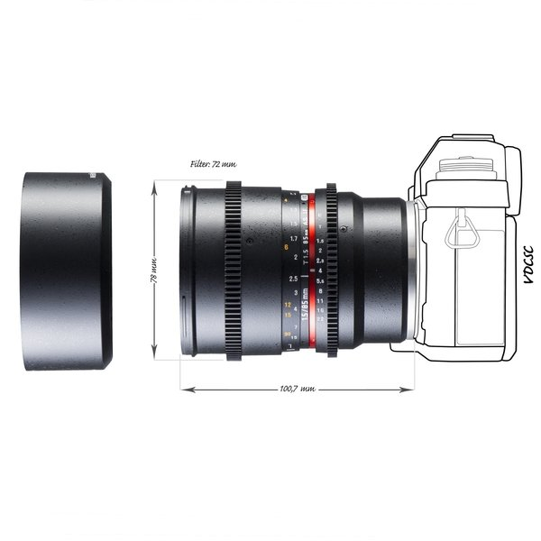Walimex Pro Objectief 85/1,5 Video DSLR Sony E black