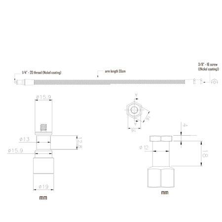 Walimex Pro Flexiarm met1/4 Inch Thread XL
