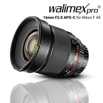 Walimex Pro Objectief 16/2,0 APS-C Canon EF-S black