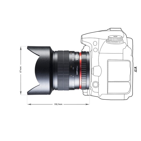Walimex Pro 10/2,8 APS-C Canon EF black