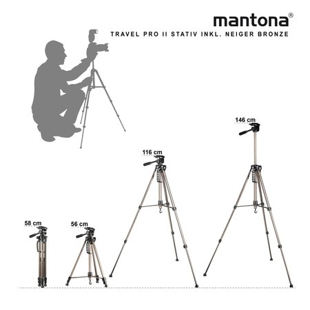 Mantona Basic Travel Pro II Tripod Bronze