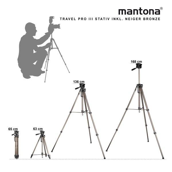 Mantona Basic Travel Pro III Tripod Bronze