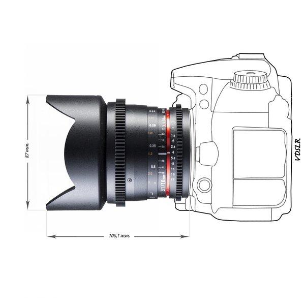 Walimex Pro Objectief 10/3,1 Video APS-C Canon EF-S black