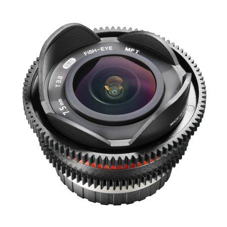 Walimex Pro Objectief 7,5/3,8 Fisheye Video APS-C MFT
