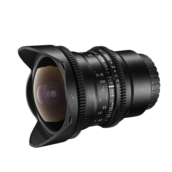 Walimex Pro 12/3,1 Fisheye Video DSLR Canon EOS black