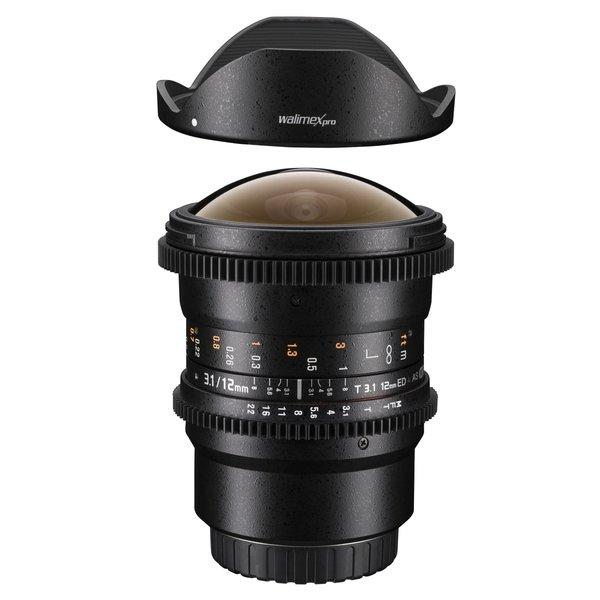 Walimex Pro 12/3,1 Fisheye Video DSLR Nikon AE black