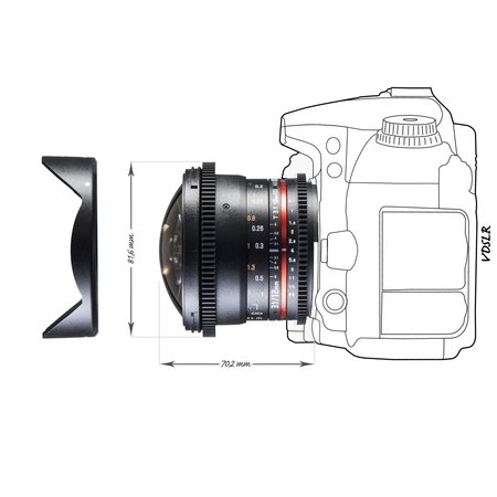 Walimex Pro Objectief 12/3,1 Fisheye Video DSLR Nikon AE black