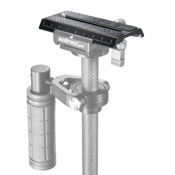Walimex Pro Snelkoppelingsplaat voor StabyPod XS 40cm Carbon
