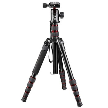 Mantona Travel Tripod DSLM with ball head, red