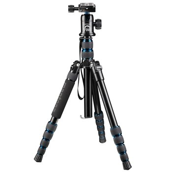 Mantona Travel Tripod DSLM with ball head, blue