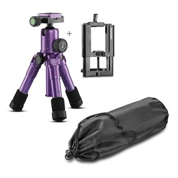Mantona Kaleido Mini Tripod  light purple + Smartphone mountings