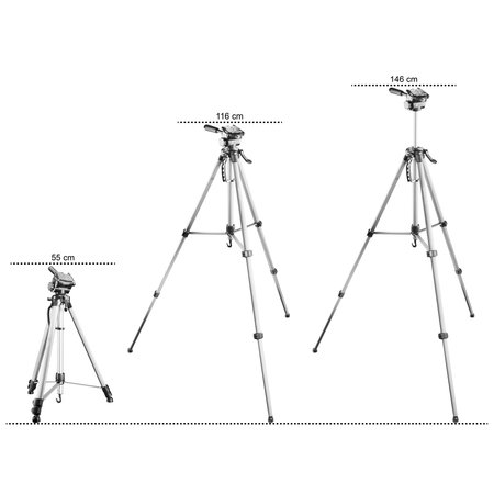 Walimex Pro WT-3530 Basic-Tripod 146cm Zilver