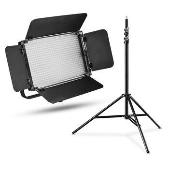 Walimex Pro LED Flächenleuchte Niova 600 Plus Daylight + Stativ