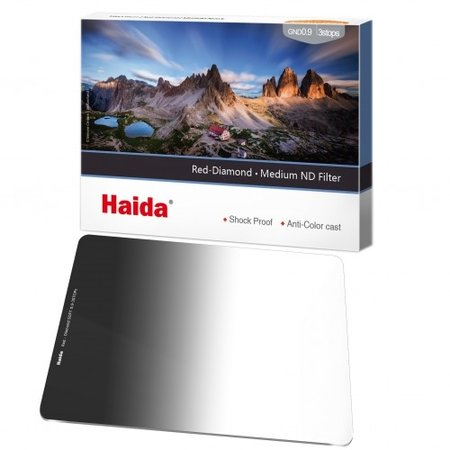 Haida Red Diamond Medium Graduated ND Filter 2 Stops 100x150mm ND0.6