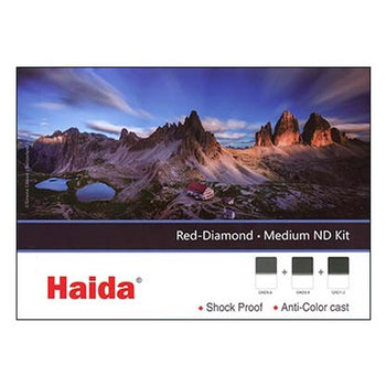 Haida Red Diamond Medium Graduated ND Filter Set 2-3-4 stops Set 100x150mm