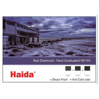 Haida Red Diamond Hard Graduated ND Filter Kit 2-3-4 Stops 100x150mm